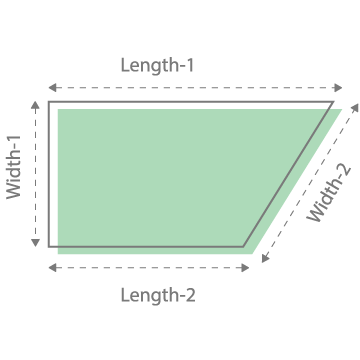 Area of Parallelogram OR Area of Irregular Shapes – Square